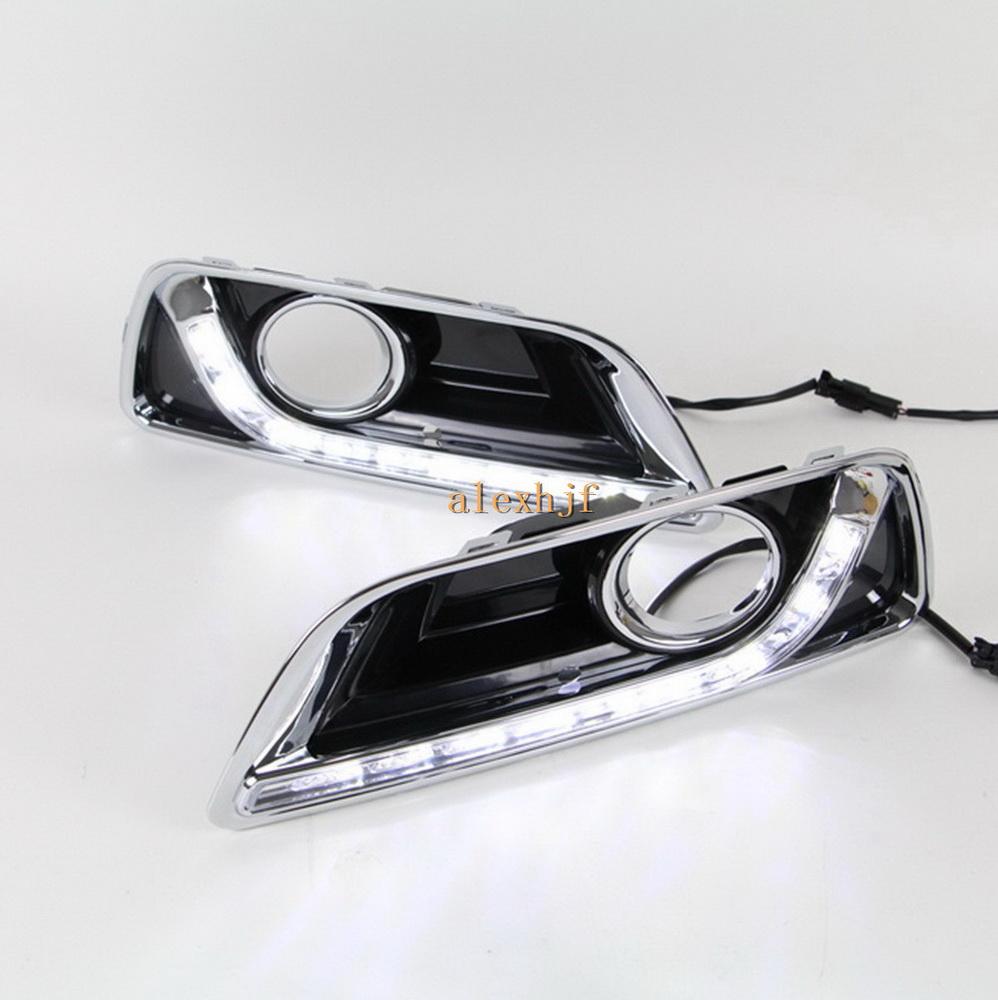 Фотография LED Daytime Running Lights DRL, LED Fog Lamp Case for Chevrolet Malibu 2012~15, 1:1 replacement, fast shipping