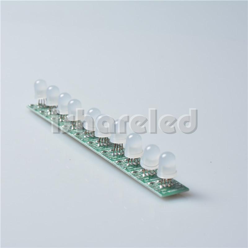 50Pcs 5V RGB LED Node Module Light Pixel LED Module String Light Addressable IP20 8mm(China (Mainland))