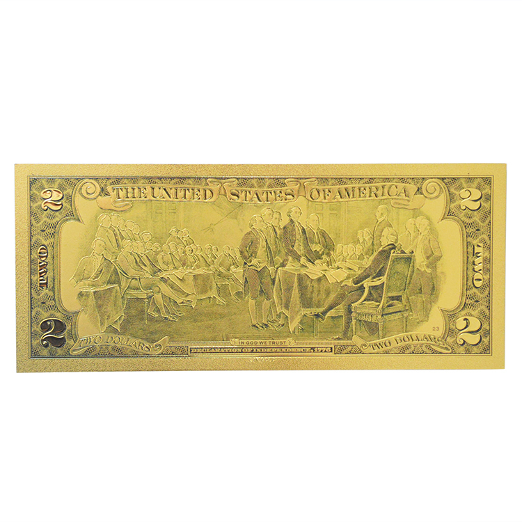 American Paper Money 24k Gold Plated Banknote Dollar Unique Business And Exchanged Gift(China (Mainland))