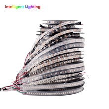 ws2812b 1m/4m/5m 30/60leds/m 2812 led strip IP30/IP65/IP67 Waterproof Black PCB/White PCB DC5V(China (Mainland))