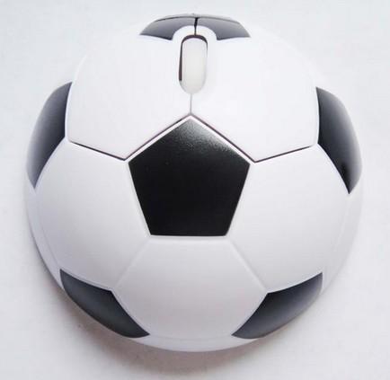 150pcs/lot New White Basketball Football Soccer Shape 2.4G Wireless Optical Mouse High qualitymice(China (Mainland))