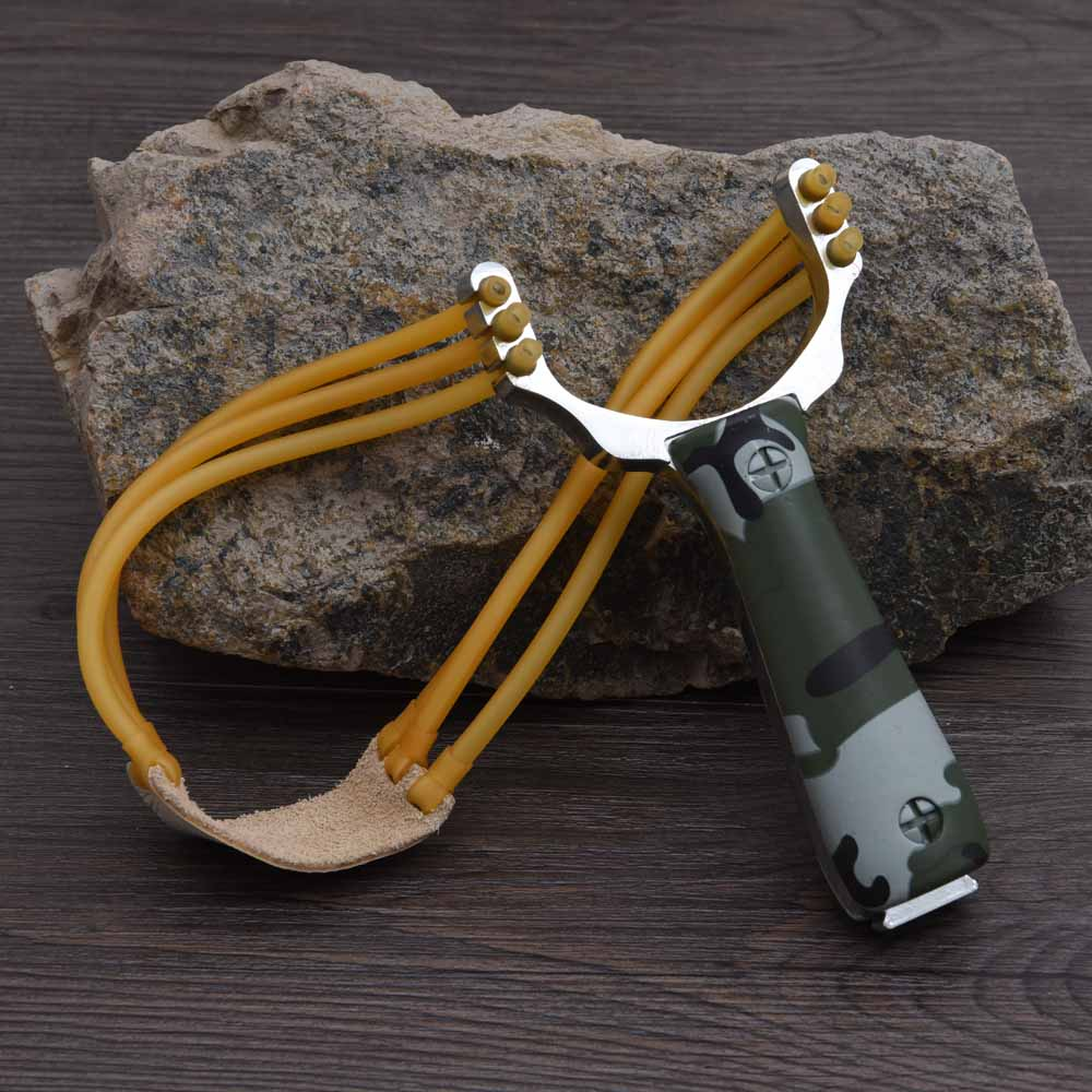 Powerful Aluminium Alloy Slingshot Sling Shot Catapult Camouflage Bow Catapult Outdoor Hunting font b Camping b
