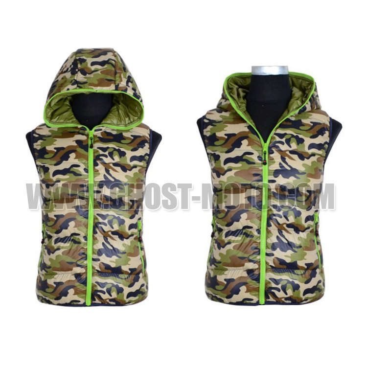 New 2015 Northland autumn & spring Men reversible for male outdoor sports walking running white duck down camo vest waistcoat(China (Mainland))