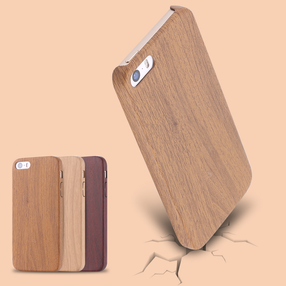 Flexible PU Wood Pattern Back Phone Case For Apple iPhone 5 5s Soft Ultra Slim Cell Cover Capa For iPhone5 Accessories(China (Mainland))