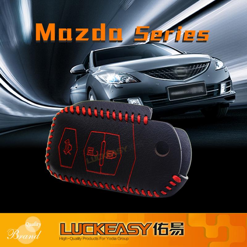 key chain mazda mx-5 ruiyi 3 2008-2012 Genuine Leather Car Key bag/case wallet holder 2009 2010 remote cover - Dongguan Yodia Electronic& Technology Co.,Ltd store