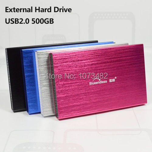 Free shipping On Sale 2.5'' blueendless USB2.0 500GB HDD External hard drive Portable Storage disk wholesale and retail Prices(China (Mainland))