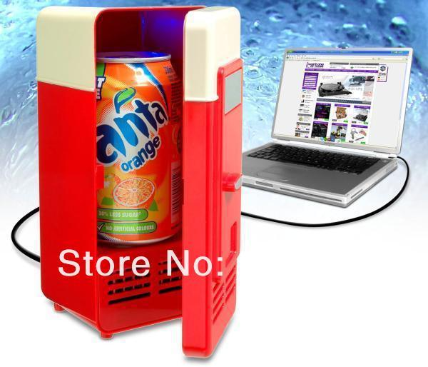 Free Shipping 1Piece USB Fridge Cup Bottle Cooler and Warmer Double-duty Fridge