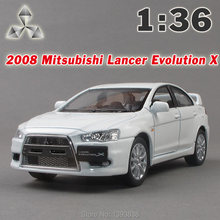 1:36 Mitsubishi lancer when equipped the tenth generation Alloy model car toys EVO Diecast Model Car Sound&Light(China (Mainland))