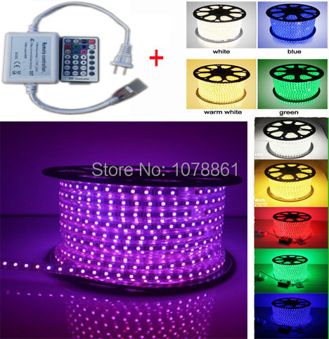 Factory Directly Price led ribbon 5050 RGB LED Strip Light Flexible RGB Color LED Strip Kit with Color + 28key RF RGB controller(China (Mainland))