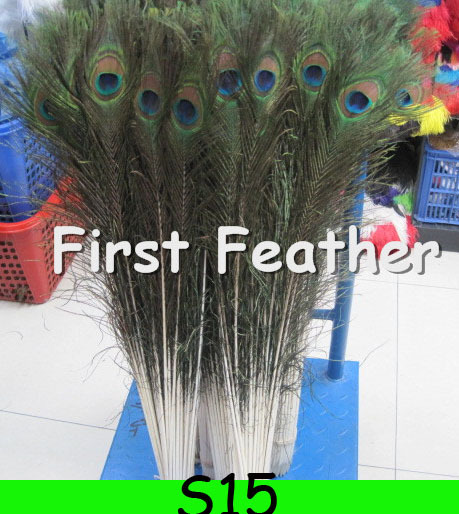 Wholesale Price!100 pcs/lot 60-70cm Big Eye Natural Peacock Feather wedding decorations peacock feathers Free shipping S15(China (Mainland))