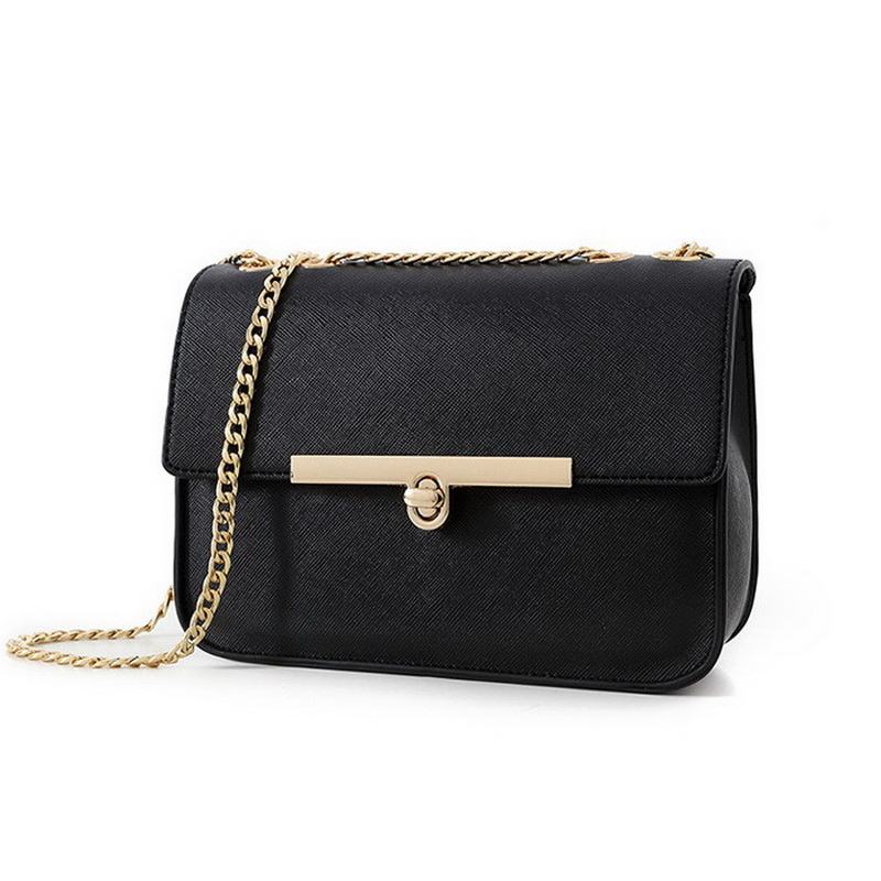 Hot sale fashion trend PU leather women messenger bag cute women bags all-match cross-body bag pure color chain bags WLHB1323(China (Mainland))