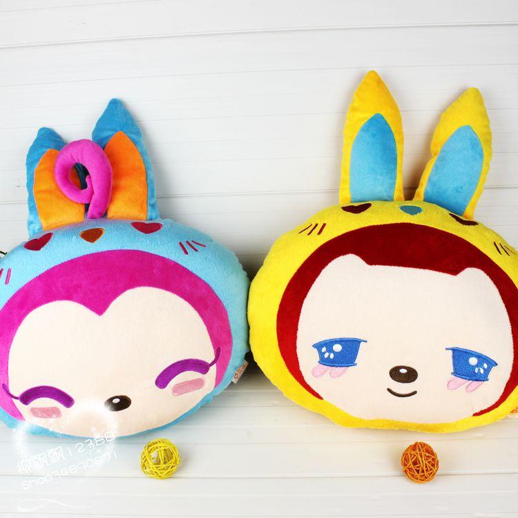 Lovers fox peach doll small fox pillow cushion rabbit candy plush toy wedding gift(China (Mainland))