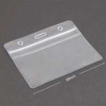COFA 10 x Show Clear Vertical ID Badge Card Plastic Pocket Holder Pouches 98 x 86mm(China (Mainland))