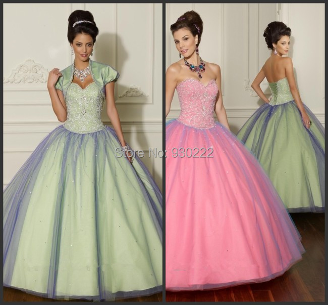 Tony Charming Ball Gowns Beading Pink Quinceanera Dresses Jacket Sweet Sixteen Vestidos De - Blair's Bridal store
