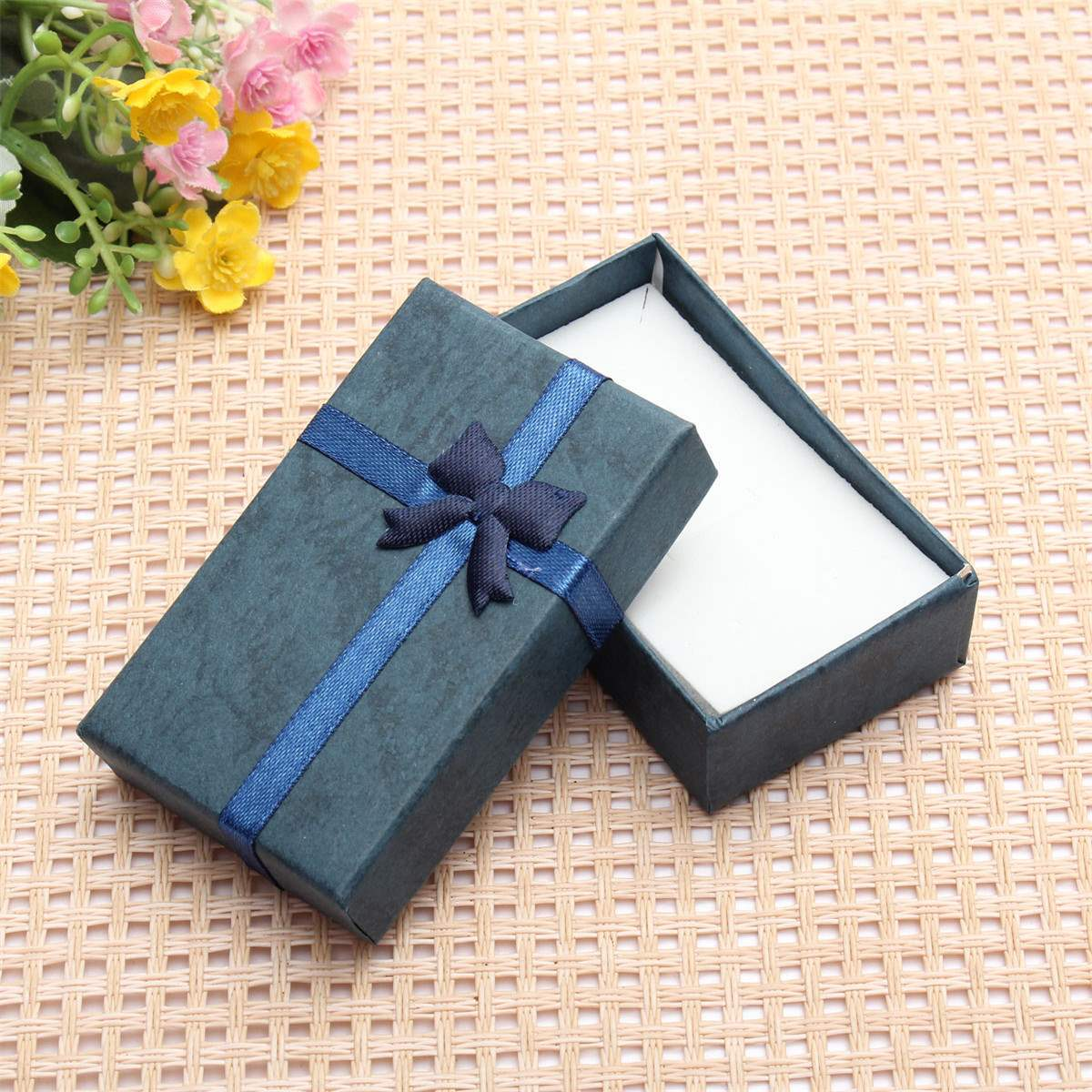 New Rectangle Ribbon Bowknot Gift Box Handmade Paper Jewelry Boxes Wholesale Large Big Case For Necklace Chain Bracelet(China (Mainland))