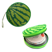 FW1S CD Holder Sheet DVD Case Storage Wallet Disc Organizer Watermelon Shape 24 Free Shipping(China (Mainland))