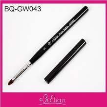 Oval Gel Brush in Manufacturer of Gel Nail Brush Nylon with Acrylic Handle #6 free shipping(China (Mainland))