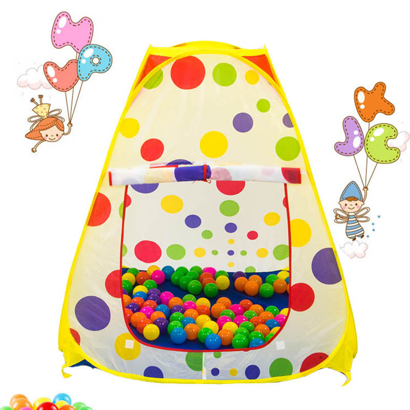 Portable Baby Polka Dot Play Toy Tents Children Game Garden House And Outdoor Camp Game Tent Folding Tent Gifts 985-Q35(China (Mainland))