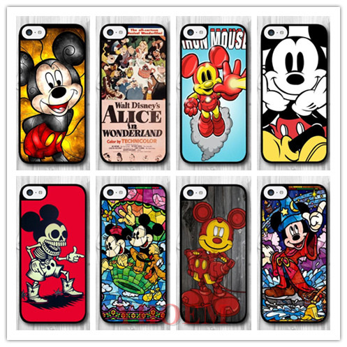 YHOEM Mickey Skeleton Protective Hard Cover Case For iPhone 5C Phone Cases Y36(China (Mainland))