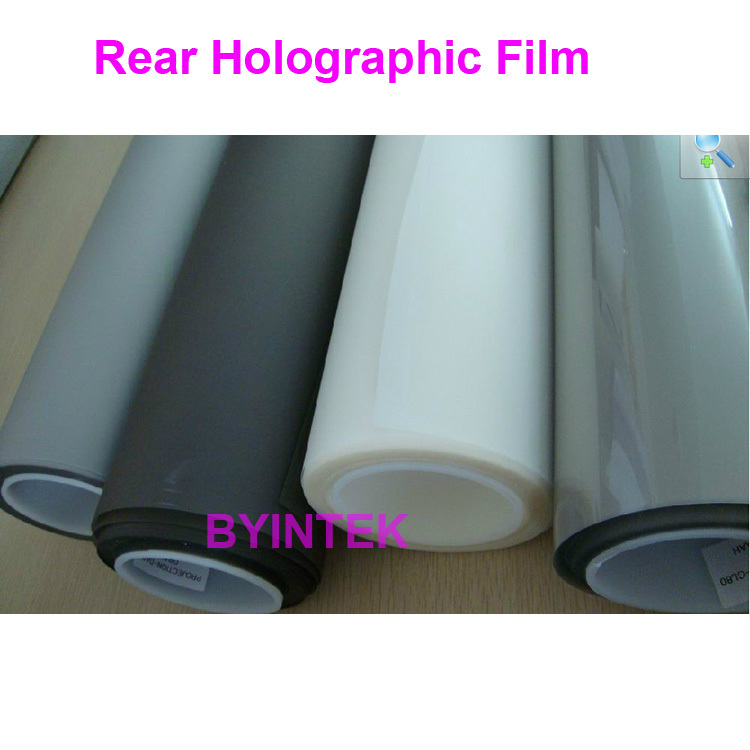 transparent holographic Hologram rear adhesive film projection 3D screen film for window shop display exhibition(China (Mainland))
