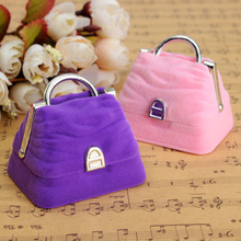 1 X HOT!! Pink/Purple Elegant Women Ladies Velvet Earring Ring Pendant Display Box Case Holder Jewelry Gift(China (Mainland))