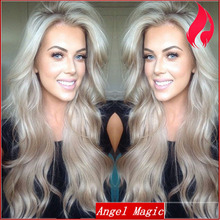 Human Hair Blonde Lace Front Wigs For Sale 7A Blonde #60 Brazilian Virgin Hair Lace Front Wigs with Baby Hair Natural Body Wave(China (Mainland))
