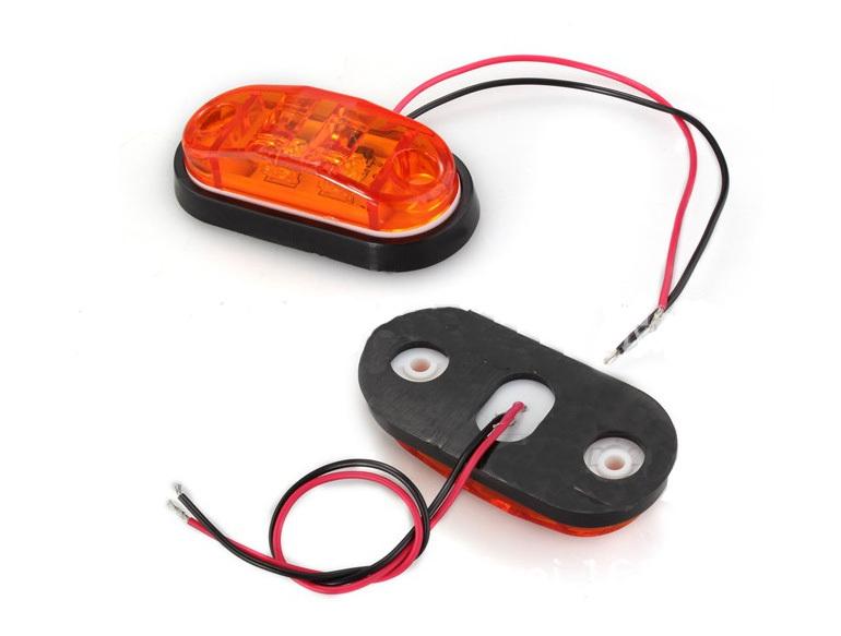 2X LED Side Marker Light Clearance Lamp 12V 24V E marked DOT Car Truck Trailer External
