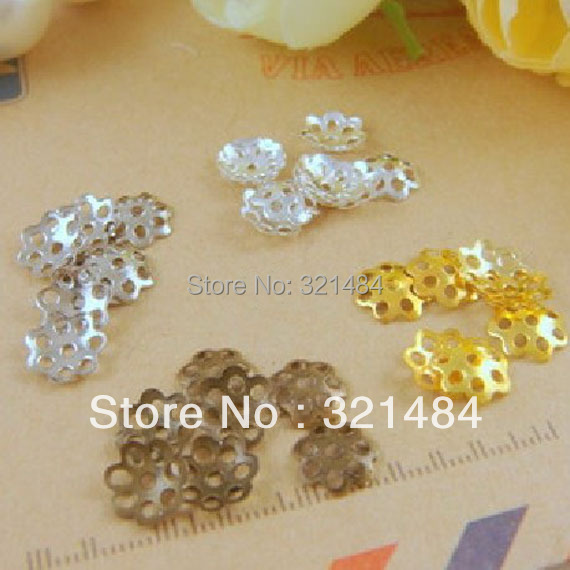 Wholesale 6mm samll seven petals design 40000pcs Filigree Jewelry Bead Caps Free shipping!!!<br><br>Aliexpress