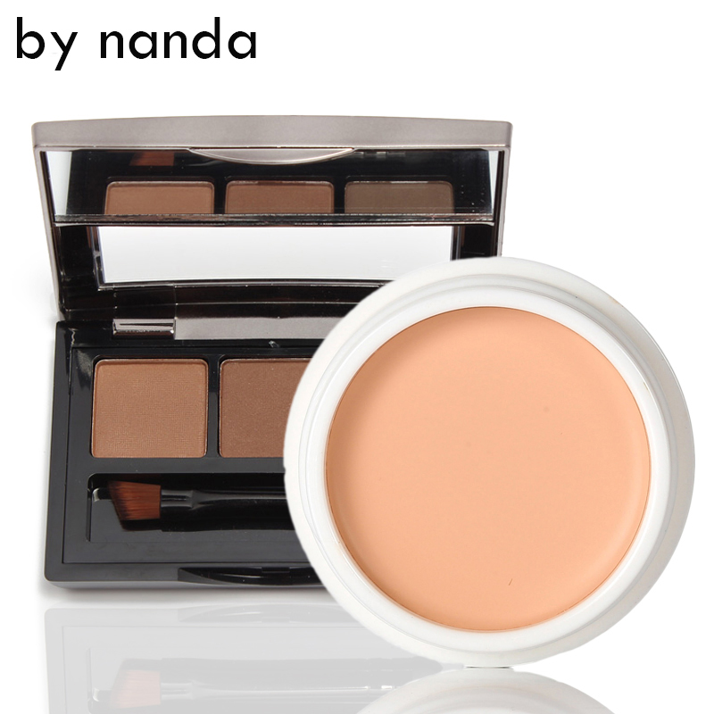 V5 Face Make Sets Foundation Cream Concealer Platette BY NANDA + UBUB 3 Colors Eyebrow Nude Makeup Face Makeup Kits