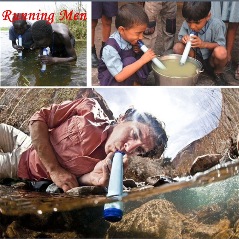 Portable Outdoor Camping Hiking Personal Water Straw Filter Drinking Water Purifier(China (Mainland))