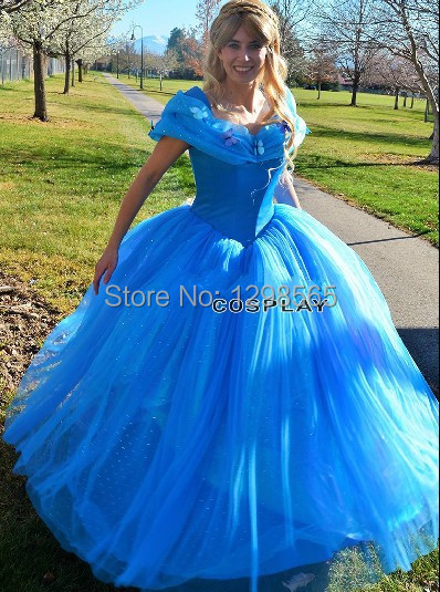 2015 nouveau film princesse adultes cendrillon magnifique robe custom made cosplay costume. Black Bedroom Furniture Sets. Home Design Ideas