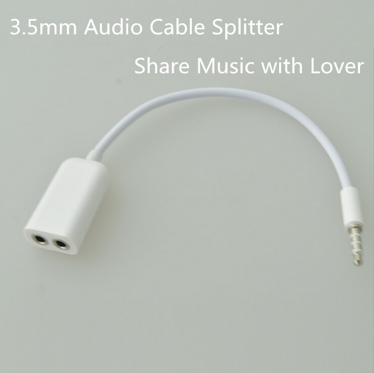 Adapter for beats.headphones 3.5mm to 3.5mm Male Female Audio Extension Cable Splitter for Speaker/Computer/iPhone Android Phone(China (Mainland))