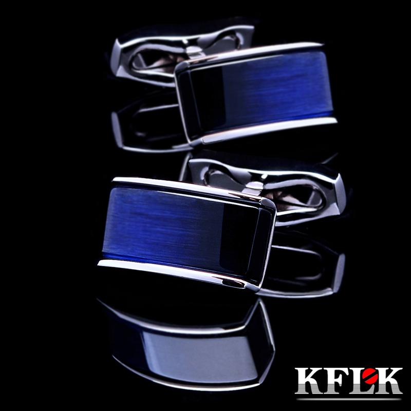 KFLK Jewelry 2014 New shirt cufflinks for mens Brand cuff buttons cuff links Blue gemelos High Quality abotoaduras Free Shipping