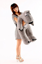 new lovely plush Unlucky bear toy gray sitting unlucky bear doll gift about 120cm