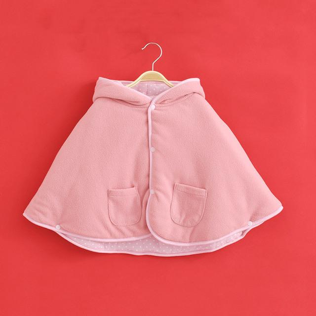 2017 новорожденных девочек плащ Пальто Зимой теплый дети уютный Фланелевое Clothing Симпатичные Куртка новорожденных Девочек Clothing