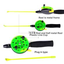 1 Set Include 50CM Rod and Reel For Sea Boat Ice Fly Fishing fish Pocket Pen Rod Reel Set Disposable Use Free Shipping L076