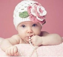 12 months -3 years Baby Flower Crochet Beanie Handmade Hat Winter Knit Cap HT21
