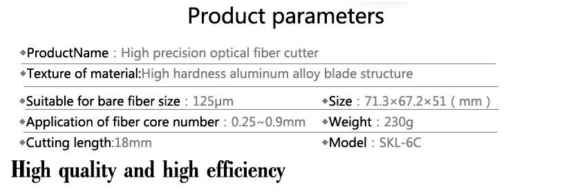 Buy FTTH fiber optic knife Fiber cleaver SKL-6C cable cutting knife FTTH tools cutter High Precision Fiber Cleavers 16 surface blade cheap