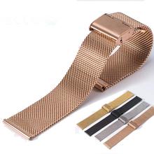 Genuine Watch Strap Durable Band Men Women Stainless Steel Hook Buckle 18 20 22 24mm Wrist ZY028 - Shenzhen Tengyue Co., Ltd. store
