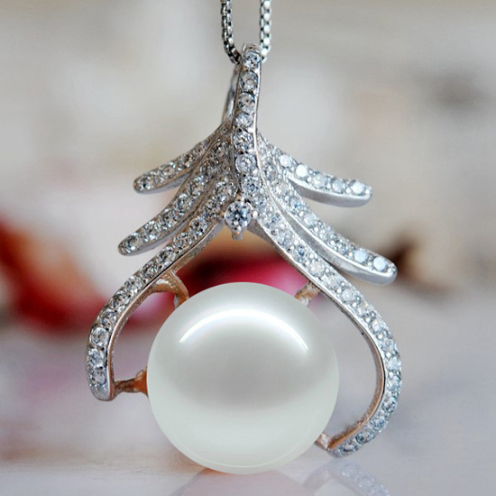9-10MM Super Big Size Fashion Charm Natural Freshwater Pearl Pendant Cheap High Quality Jewelry Nice Women's Accessory(China (Mainland))