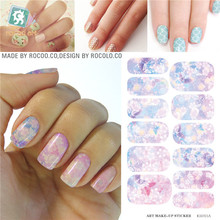 Wedding Bridal Makeup Styling Tools Water Transfer Nail Art Stickers Waterproof Manicure Jewelry Nail Wraps Decals Wholesale