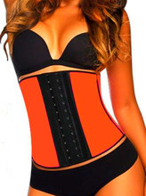 4 Steel Bones 2015 women fashion hot sale shaper cincher waist training sport latex corset bustier