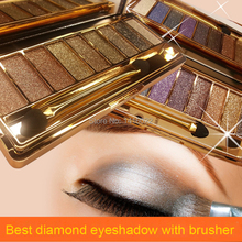 2015 hot sale 9 colors diamond bright colorful makeup eye shadow super make up set flash Glitter eyeshadow palette with brush(China (Mainland))