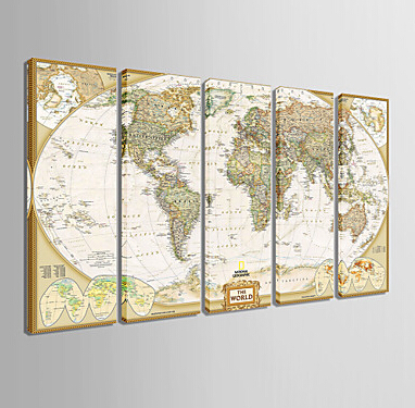 personalized canvas print stretched canvas art decor for living room world map 20x60cm 30x90cm wall art framed art f930