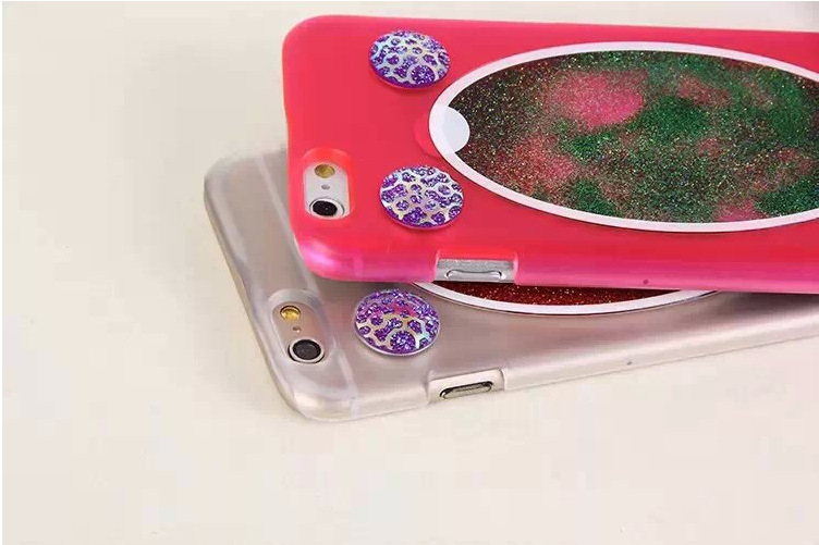 NEW Dynamic The magic mirror quicksand Case For iphone6 Crystal Clear Cellphone Back Cover For Apple iphone 6 4.7''Free shipping(China (Mainland))