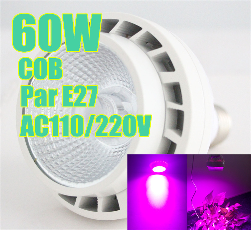 2015 60w Par COB led grow plants Full color spectrum Bloom veg flower High power Good quality distributor manufacturer(China (Mainland))