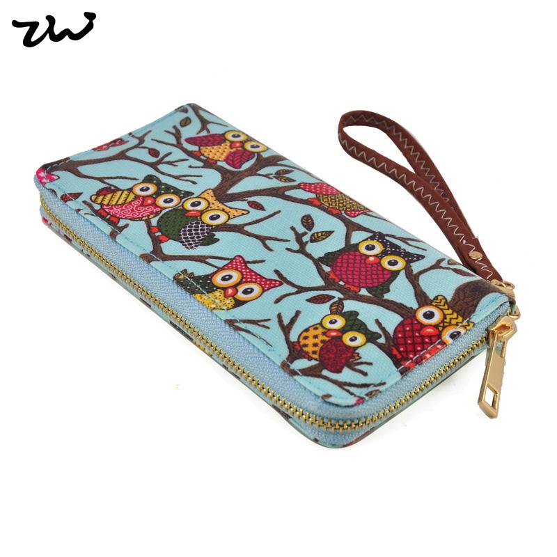 Гаджет  22013 Vintage Flower Pattern long design Oilcloth wallet card holder coin purse women