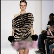 Autumn Winter Thick Warm Fur Imitation Rabbit Fur Wind Cuff Bracelet Cuff Gauntlets Gloves Female Arm Warmers Sleeves Y803(China (Mainland))