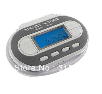 Free Shipping 3.5mm Car FM Radio Wireless LCD FM Transmitter for DVD MP3 PMP