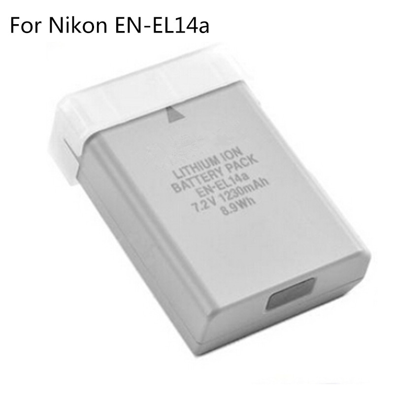 7 2V 1230mAh EN EL14a EN EL14a EL14 Lithium Ion Rechargeable Battery Pack For Nikon Df